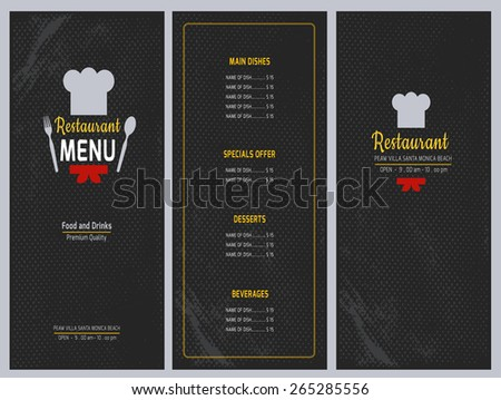 Free Restaurant Menu Card Vector Design - Download Free Vector Art