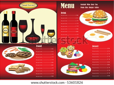 Menu design software for Restaurant design program