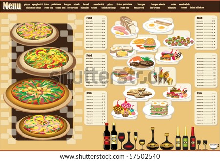 Restaurant Menu. Full design concept