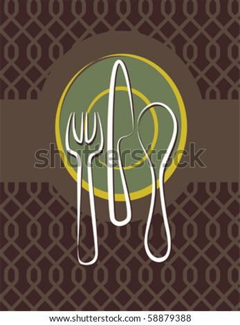 Restaurant menu on seamless pattern