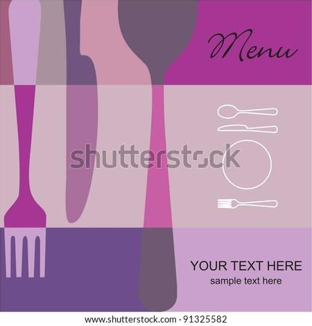 Restaurant menu pink