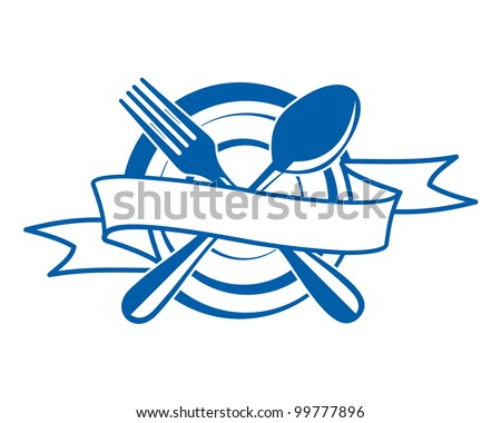 Restaurant menu symbol. Jpeg version also available in gallery