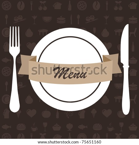 Restaurant Menu, Vector Illustration