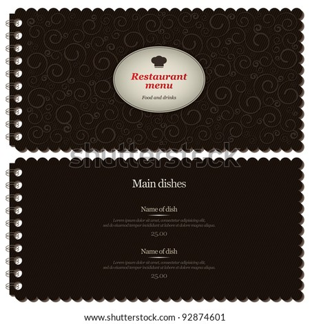 Restaurant or cafe menu design
