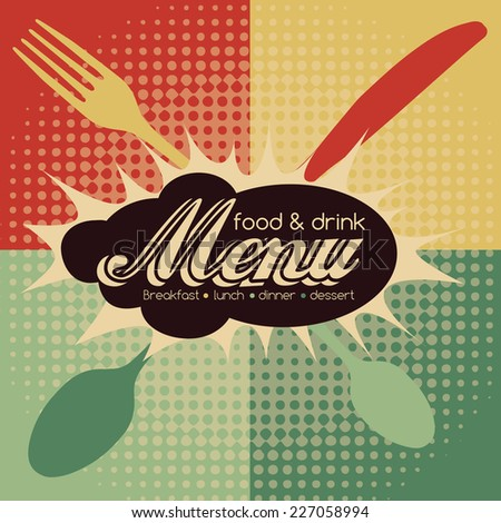 Restaurant Pop Art Menu Design - Food & Drink