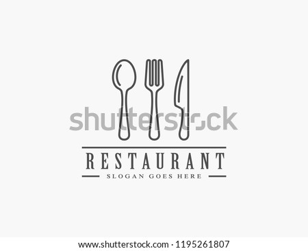 Restaurant, resto, food court, cafe logo template