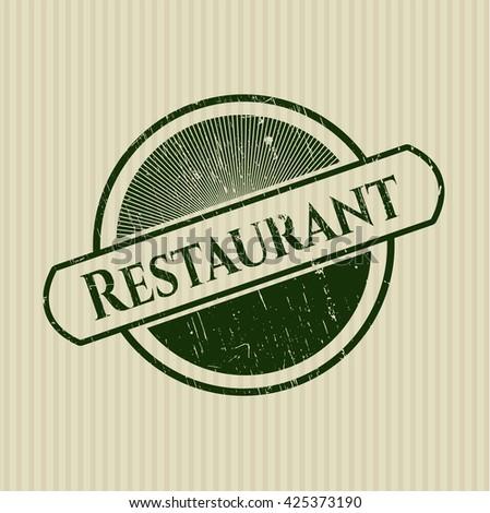 Restaurant rubber grunge seal
