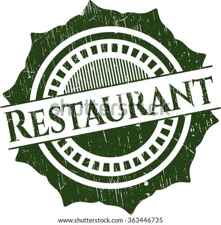 Restaurant rubber grunge texture stamp