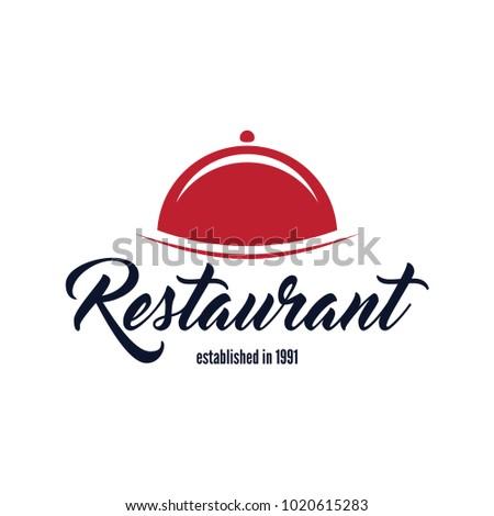 Restaurant Shop Design Element in Vintage Style for Logotype, Label, Badge and other design.