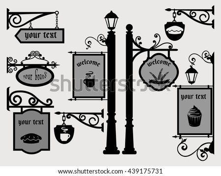 restaurant shop signs signpost