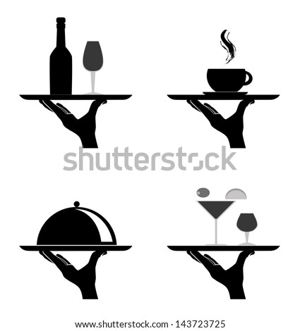 restaurant silhouettes over white background vector illustration ストックフォト ©