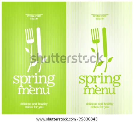 Restaurant Spring Menu Card Design template.