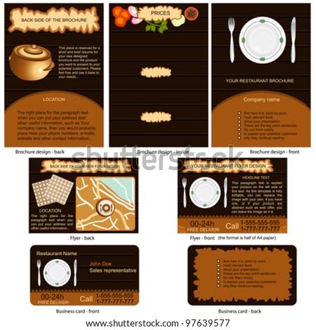 Restaurant Design on Restaurant Stationary   Brochure Design  Flyer Design And Business