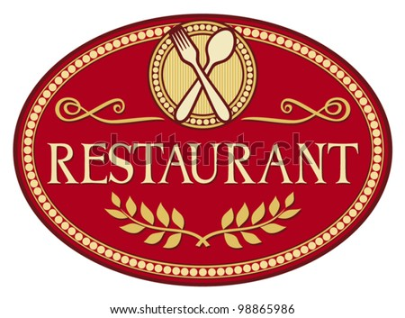 restaurant symbol (restaurant sign design)