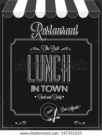 Restaurant vector poster