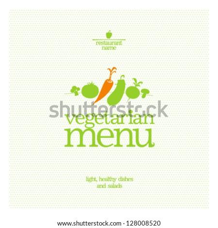 Restaurant Vegetarian Menu Card Design template. - stock vector