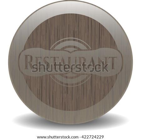Restaurant wood emblem