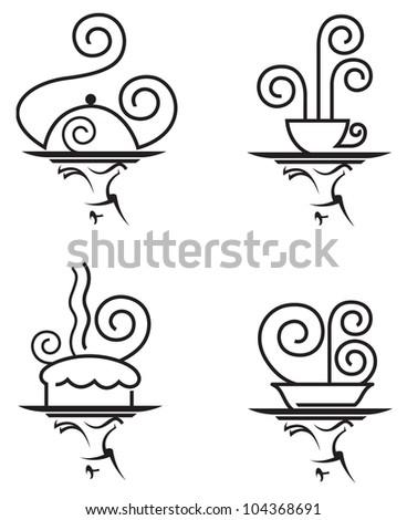 restaurants icon set