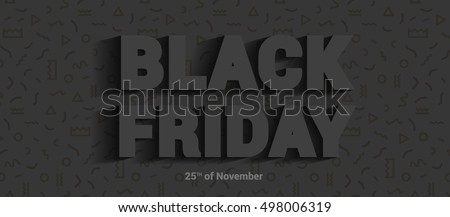 Restrained elegance banner for sales on Black Friday. Vector banner for shops, web.