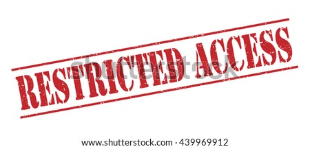 restricted access stamp Stockfoto ©