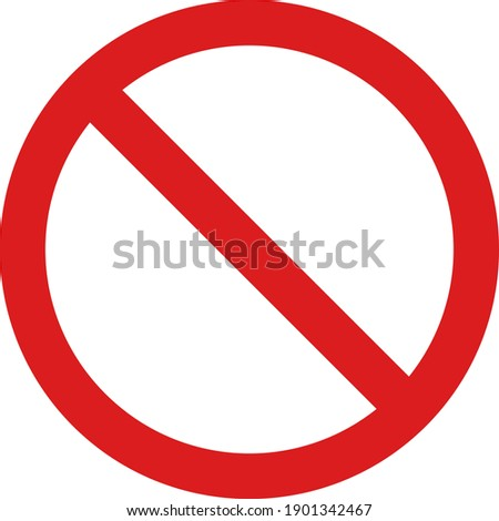 Restricted icon with flat style. Isolated vector restricted icon image, simple style. Photo stock ©