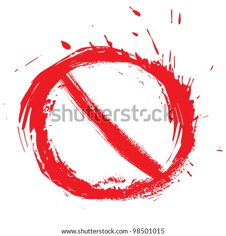 Restricted symbol - stock vector