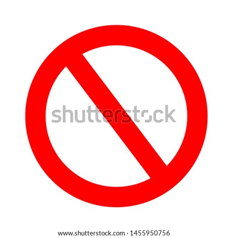 Restriction sign red, stop sign icon, No sign, red warning , prohibition sign red isolated on white background