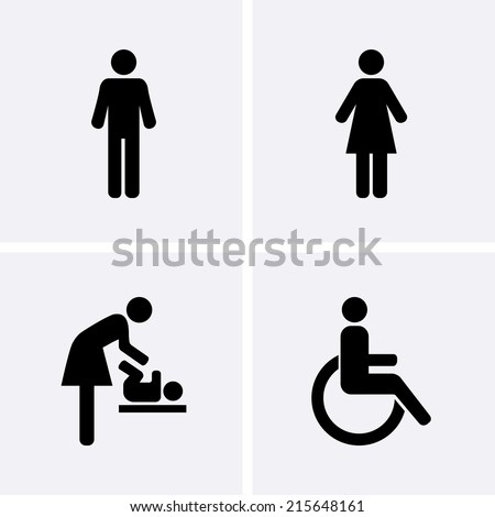 restroom icons  man  woman