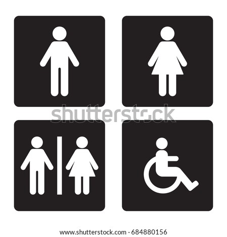 restroom sign set isolated vector