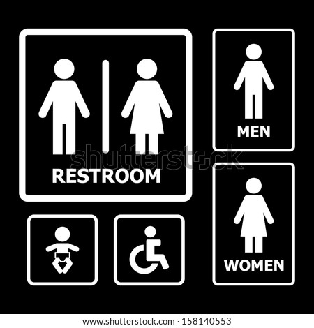 Restroom Symbols Vector Restroom Sign Vector