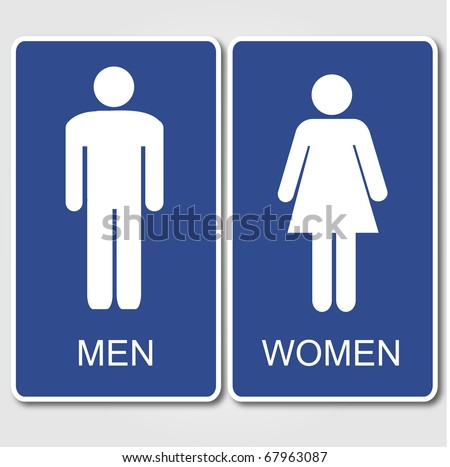 Bathroom Signs Vector Free toilet sign vectors - download free vector art, stock graphics