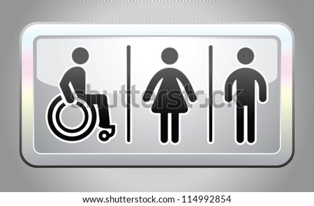 Restroom Symbols Vector Restroom Symbol Button