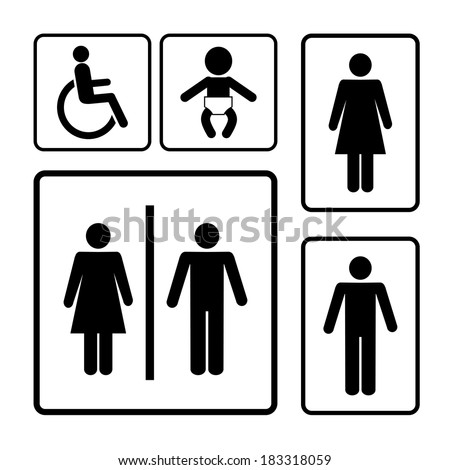 Download Toilet Sign Wallpaper 240x320