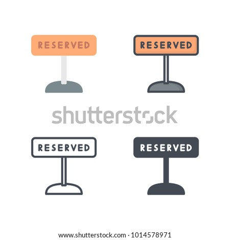 Restuarant reserved sign service icon