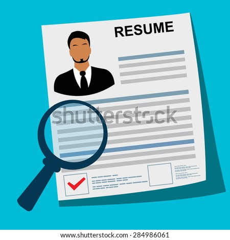 resume  magnifying  glass