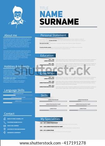 resume minimalist cv  resume