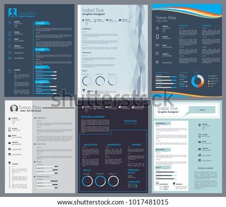 resume or curriculum vitae design template with place for your text curriculum and cv - Cv Design Templates Vector