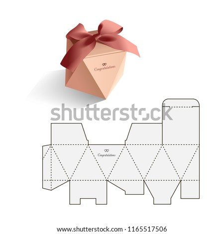 Retail Box with Blueprint Template Stock foto ©