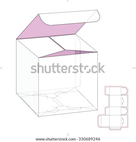 vector images illustrations and cliparts retail cube box with die