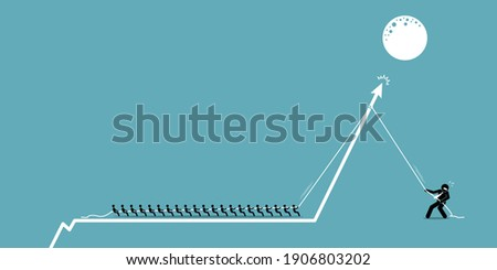 Retail investors versus institutional hedge fund investor in stock market. Vector illustrations concept of small individual investors group and team together to fight against hedge fund institution.  Photo stock ©