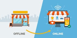 Retail offline to online: convert your shop to a successful e-commerce online accessible on computer and smartphone