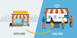 Retail offline to online: convert your shop to a successful e-commerce online, attact new customers and grow your business