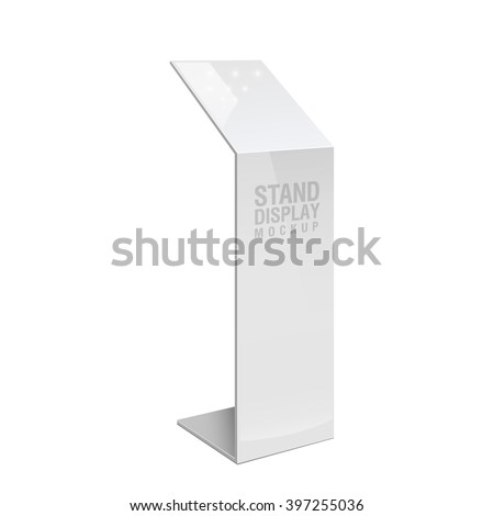 Retail Trade Stand stand banner on the white background. Mock Up Template. Vector illustration.