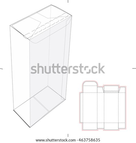 Royalty free paper bag with die cut template 303757202 stock retail zipper lock box with blueprint template 463758635 malvernweather Choice Image