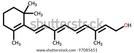 Retinol (vitamin A) structural formula