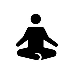 Retreat Meditation icon. Flat vector graphic in white background.