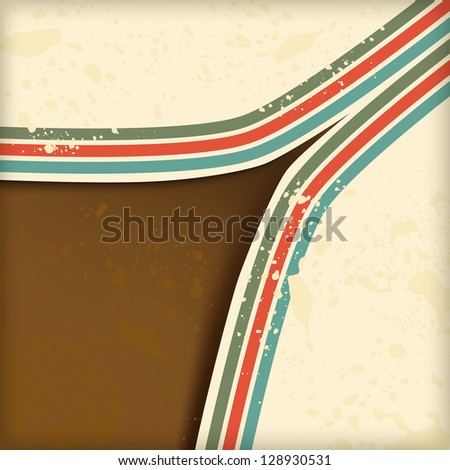 retro abstract background with lines
