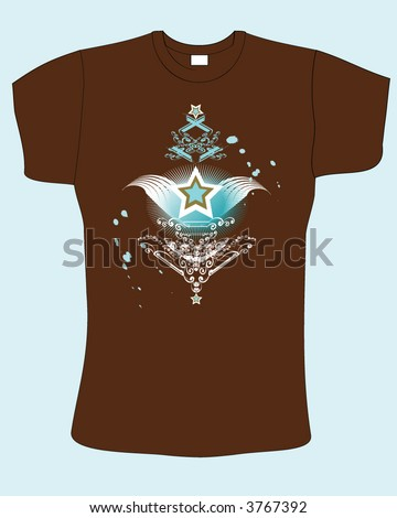 Retro abstract brown color vector t shirt design 3767392 for Shutterstock t shirt design