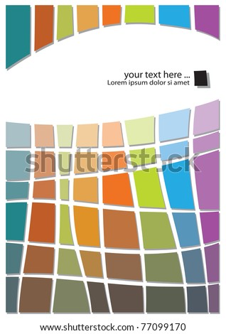 retro abstract design, colorful geometric template