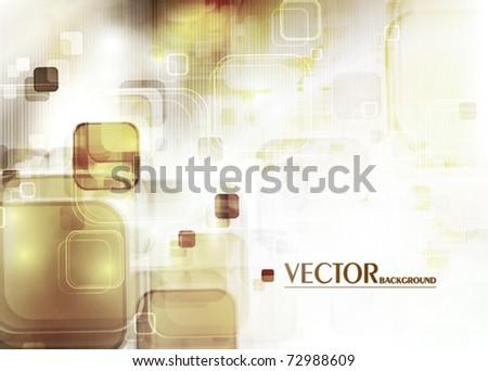 Retro abstract digital background. Vector